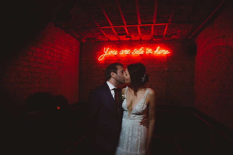 You are safe in here - Love in the time of Corona - Alternative Wedding Photographer London - Informal wedding photography
