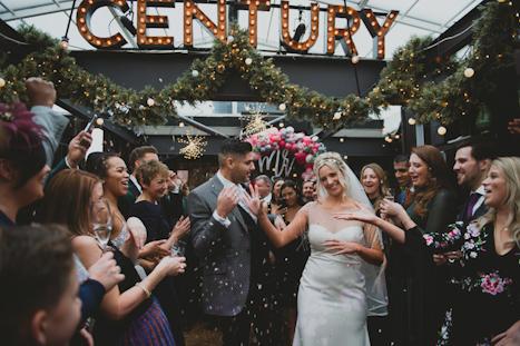 Century Club Soho London wedding venue - fun relaxed photography