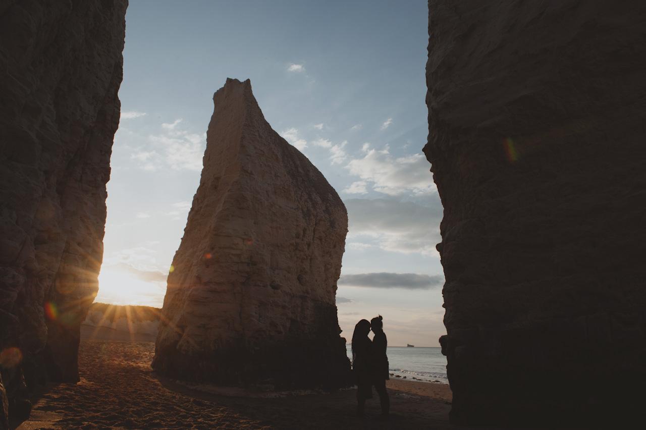 Botany Bay Engagement Shoot - London wedding photographer - Sasha Weddings - natural wedding photography UK