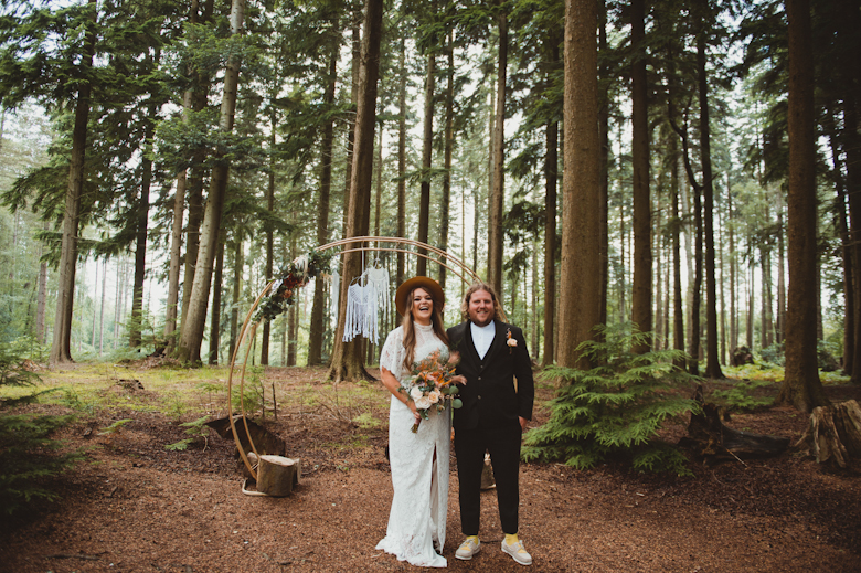New Forest Wedding in the Woods Photography